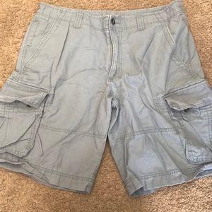 Mission Supply grey/blue cargo shorts size 38